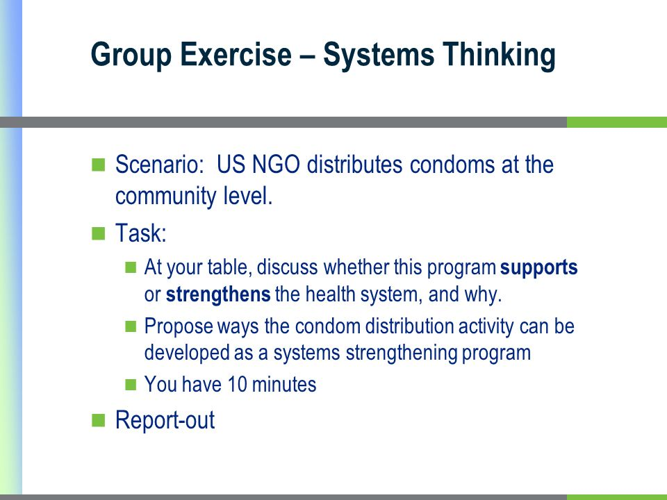Group Exercise – Systems Thinking