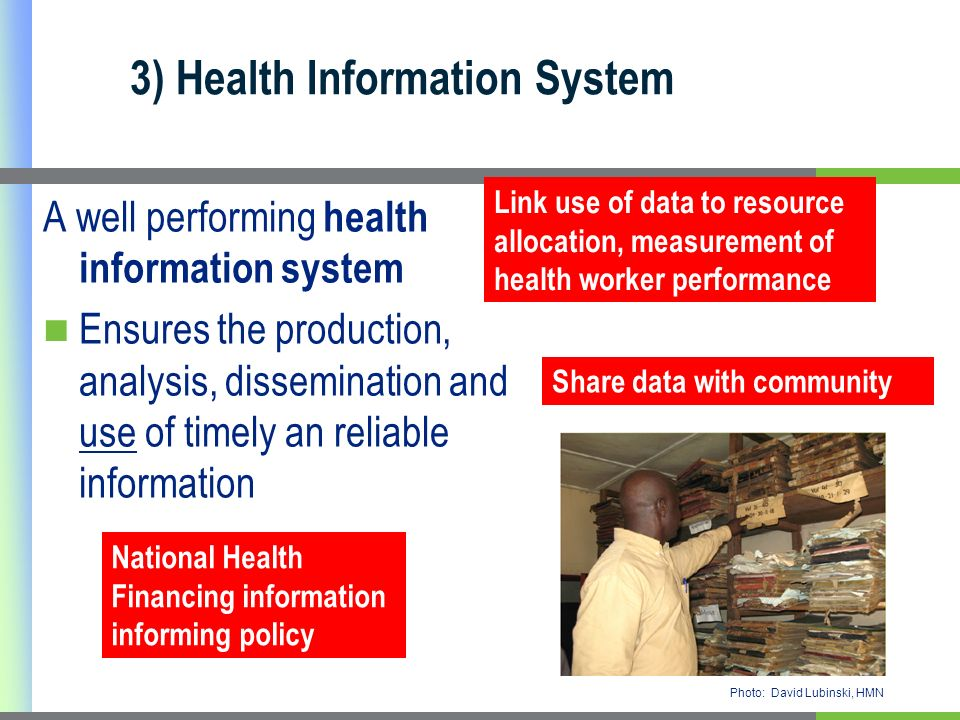 3) Health Information System