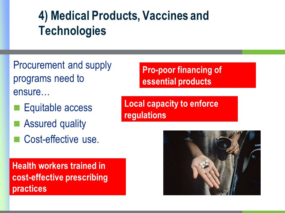 4) Medical Products, Vaccines and Technologies