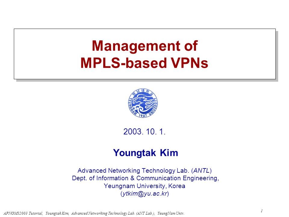 Management of MPLS-based VPNs