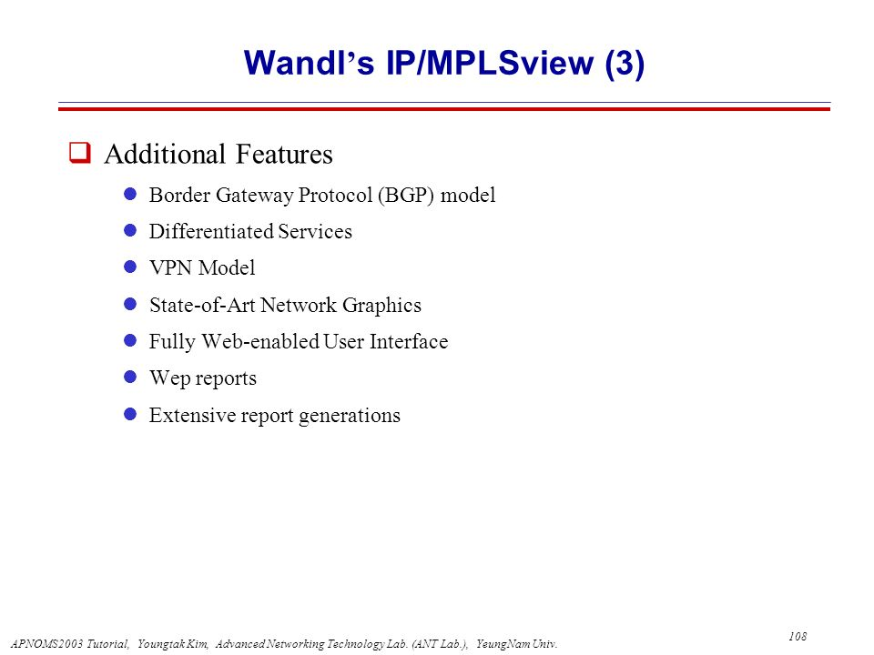 Wandl's IP/MPLSview (3)