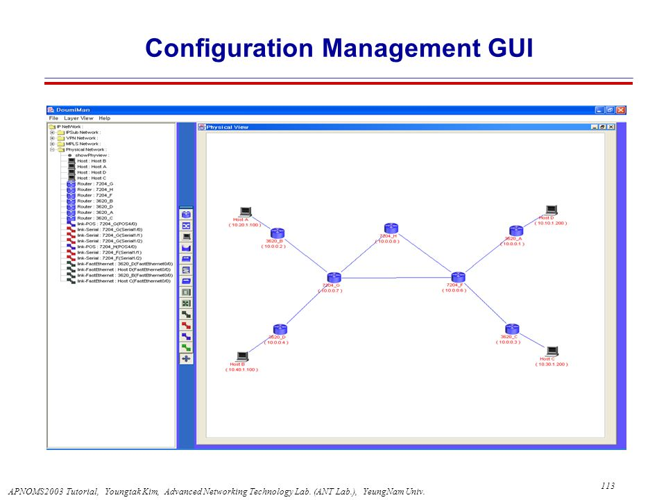 Configuration Management GUI