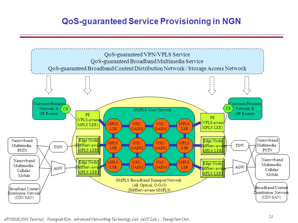 QoS-guaranteed Service Provisioning in NGN