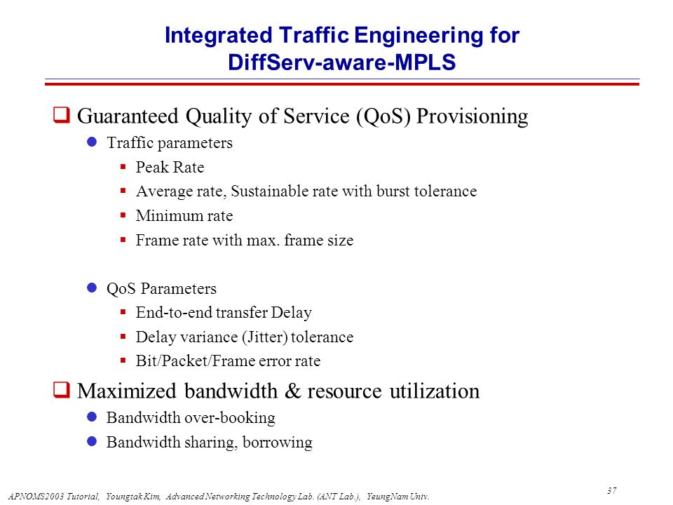 Integrated Traffic Engineering for DiffServ-aware-MPLS