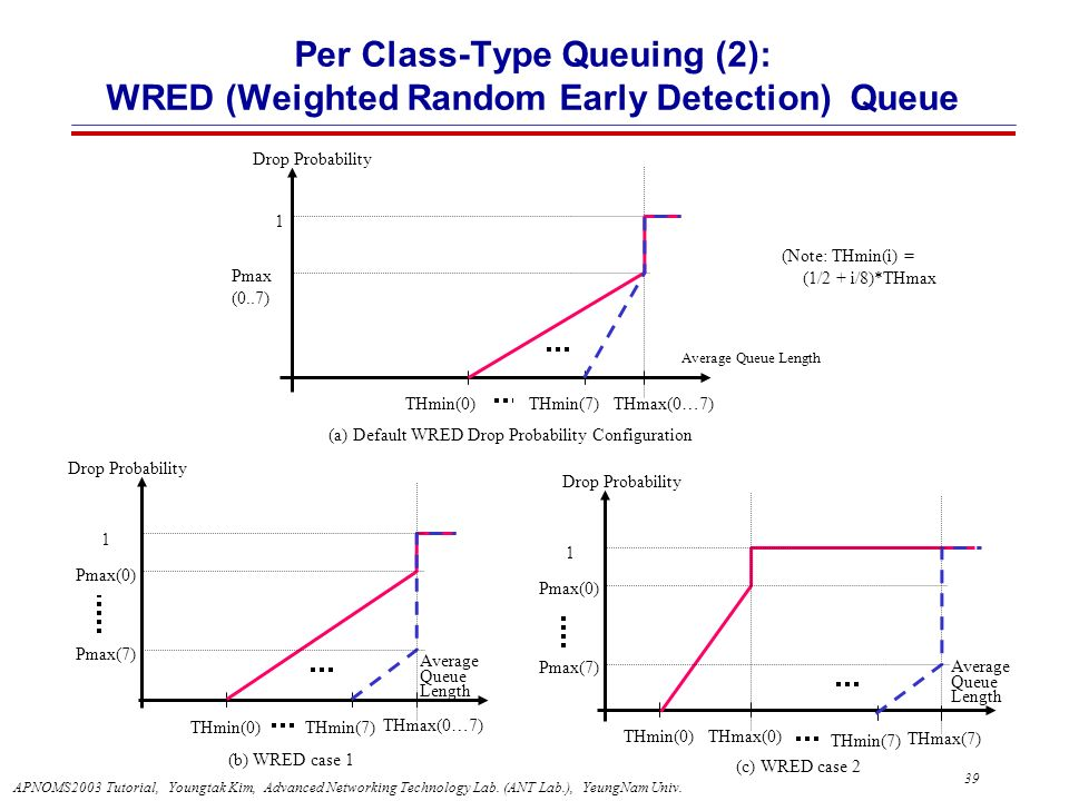 Per Class-Type Queuing (2): WRED (Weighted Random Early Detection) Queue