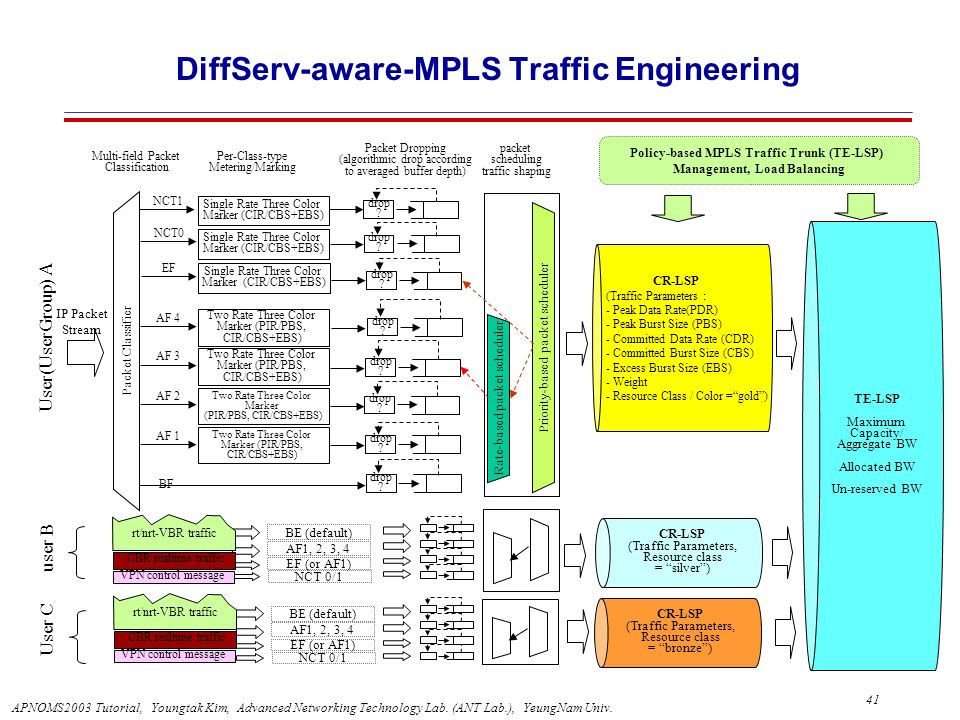 DiffServ-aware-MPLS Traffic Engineering