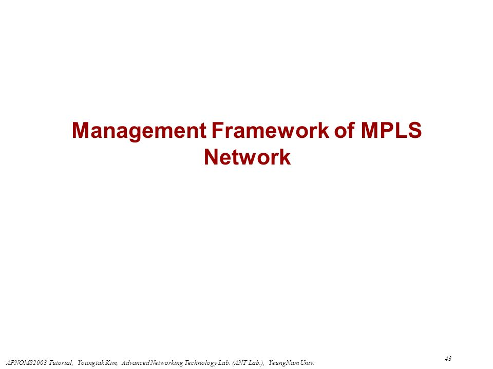 Management Framework of MPLS Network