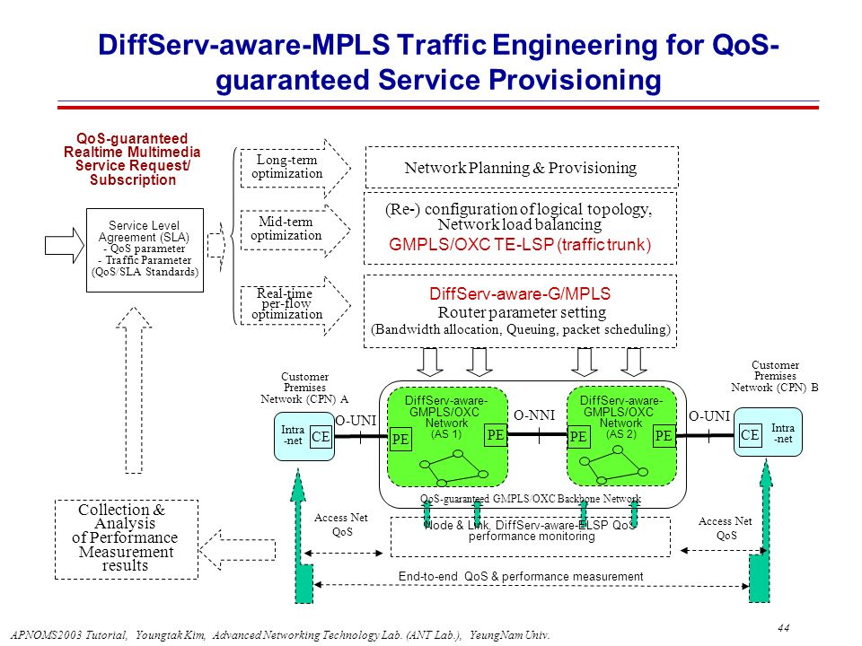 DiffServ-aware-MPLS Traffic Engineering for QoS-guaranteed Service Provisioning