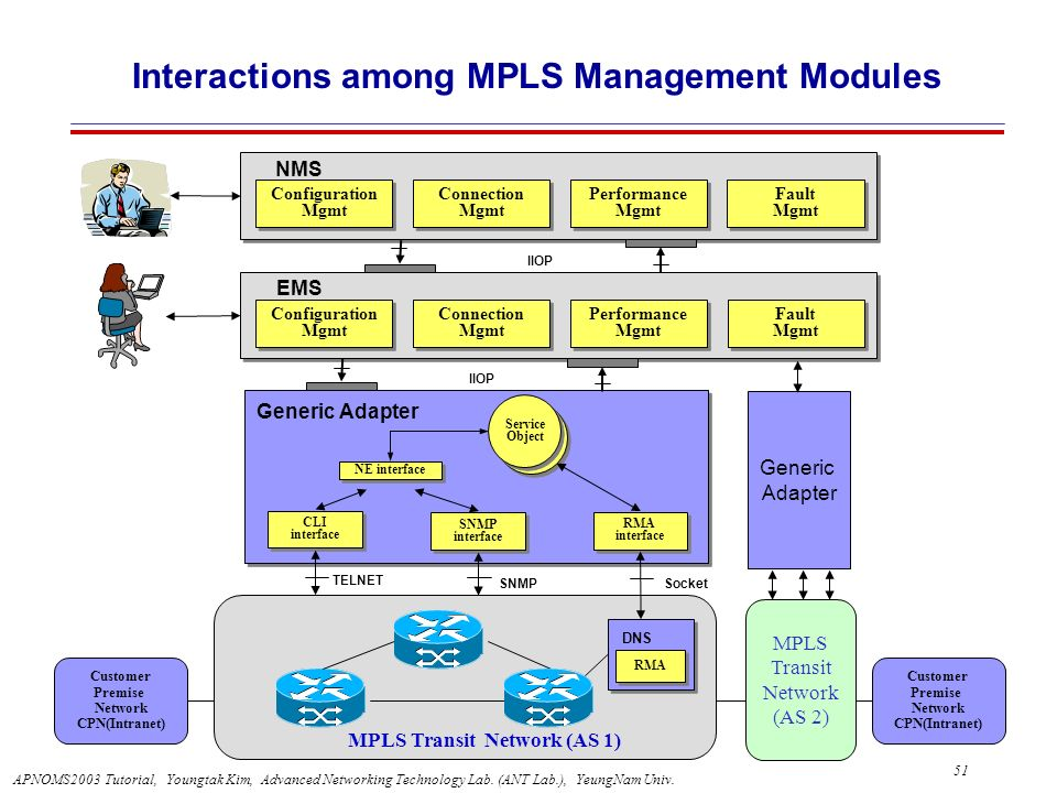 Interactions among MPLS Management Modules