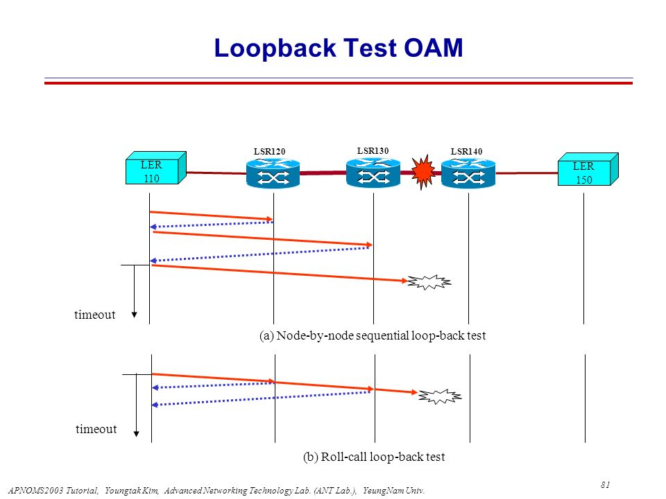 Loopback Test OAM timeout (a) Node-by-node sequential loop-back test