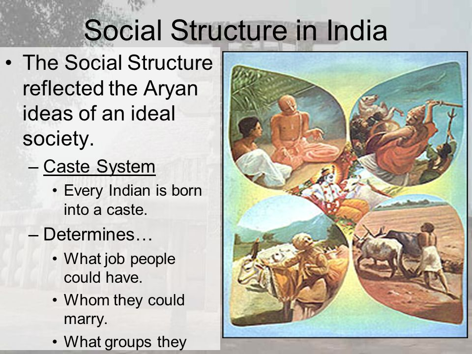 indian society and social systems in Social oppression is what happens when groups of people are pushed down by societies here are common types of oppression and their origins.
