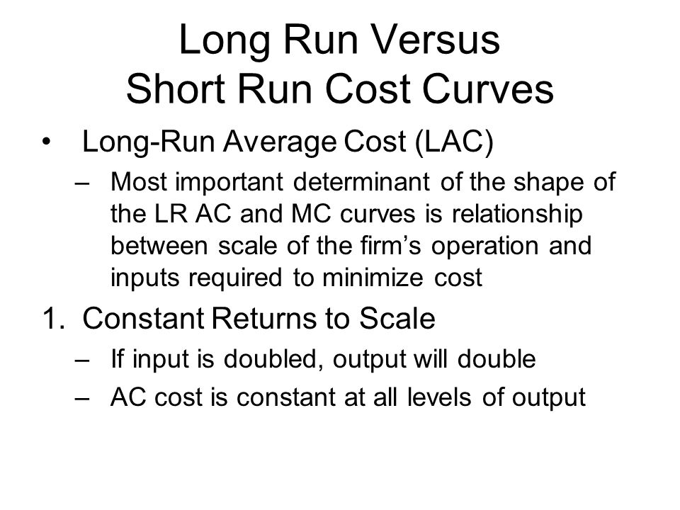 relationship between short run long cost curves