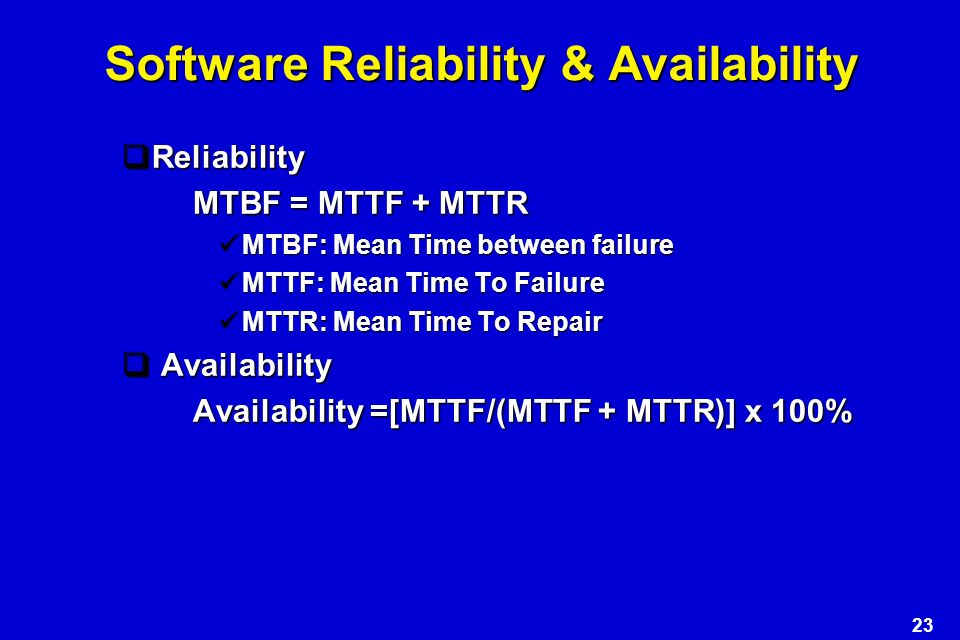 Mttf For Software - strongwindstaff7