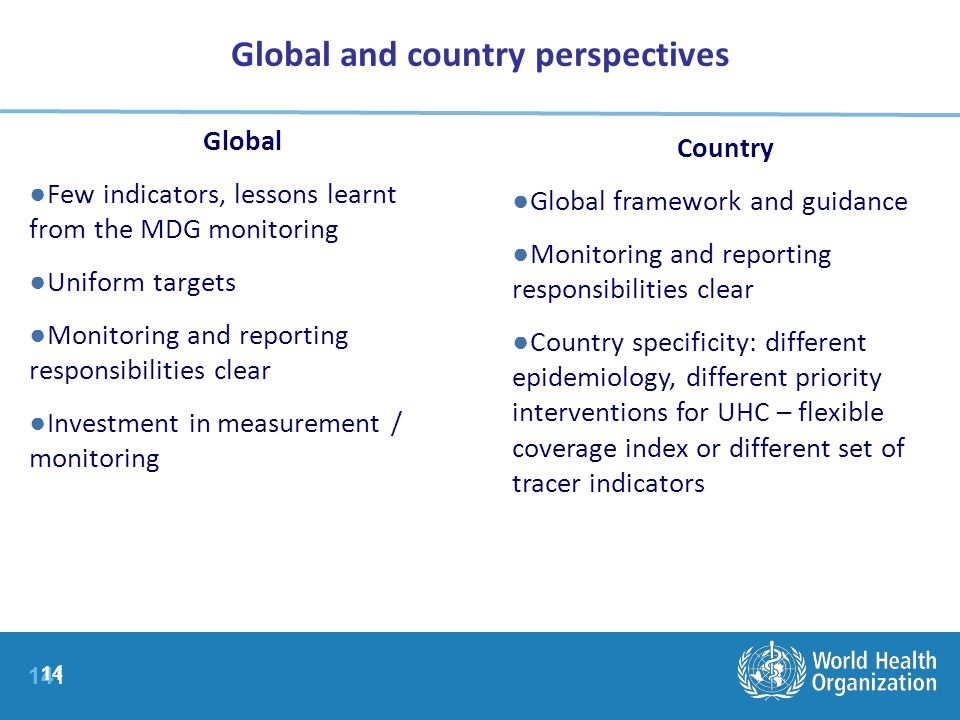 Global and country perspectives