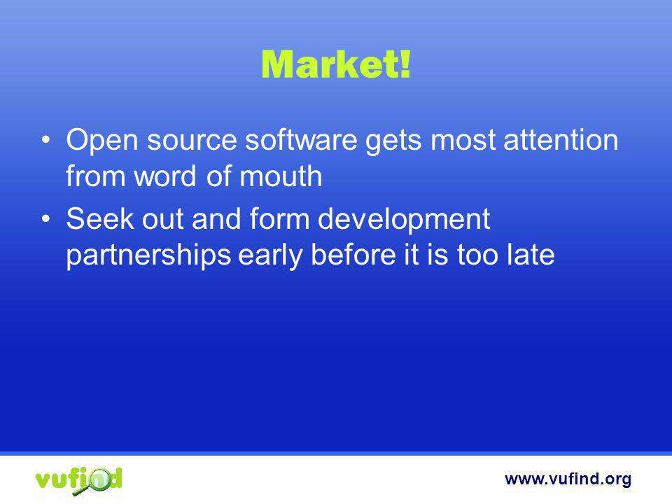 Market! Open source software gets most attention from word of mouth