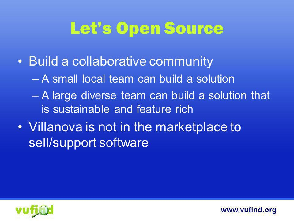 Let's Open Source Build a collaborative community