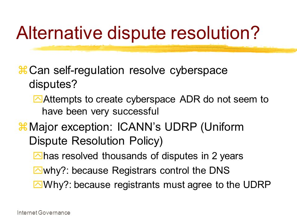 alternative dispute resolution 1 The adr committee is responsible for: 1 establishing and maintaining systems of alternative dispute resolution, including provisions for both dispute mediation and dispute arbitration 2 maintaining a pool of qualified mediators and arbitrators 3.