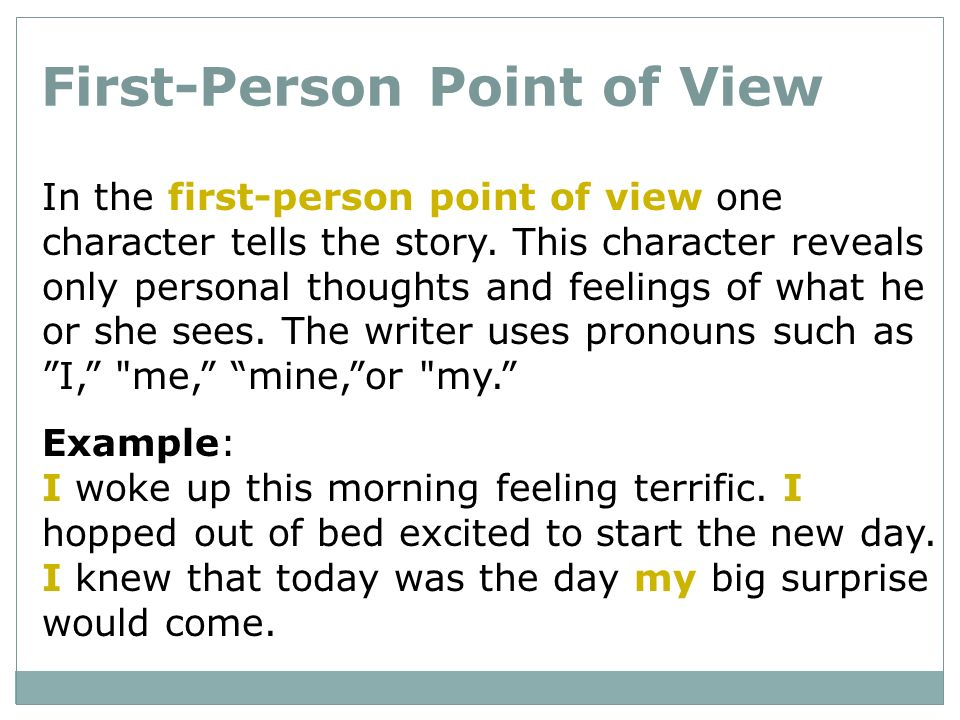 point of view and narration in With reference to at least two novels, explore the ways in which point of view informs our reading of narrative fiction point of view is the position from which.