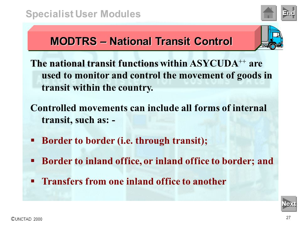 MODTRS – National Transit Control