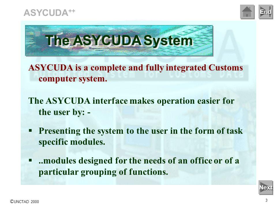 The ASYCUDA System ASYCUDA++