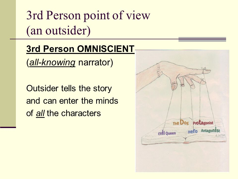 how to write in the 3rd person point of view