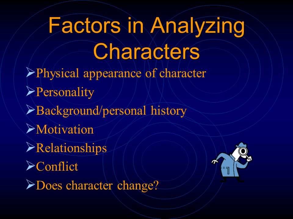 Factors in Analyzing Characters