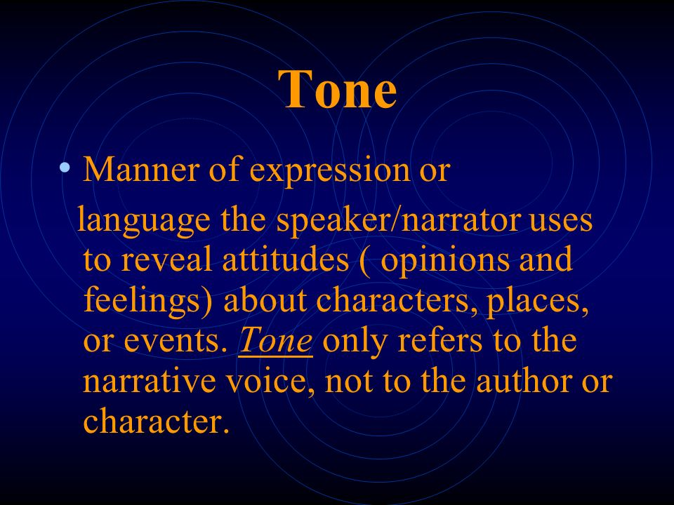 Tone Manner of expression or