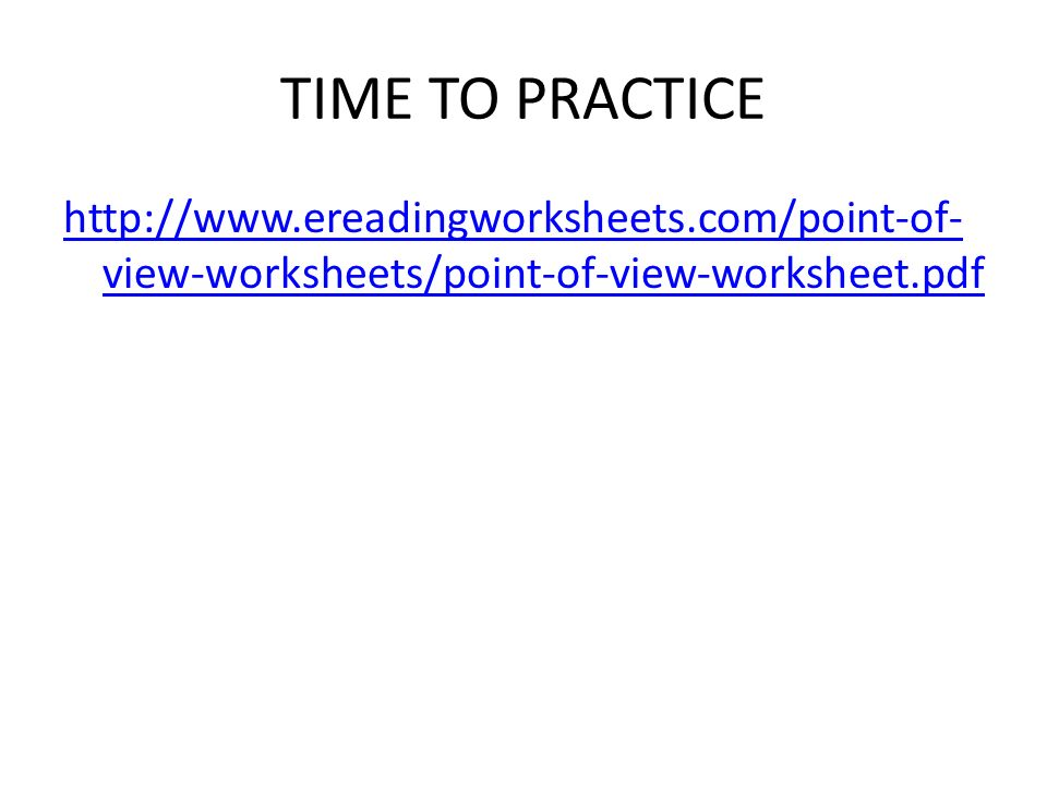 Ereading Worksheets Point Of View Delibertad – Point of View Worksheets
