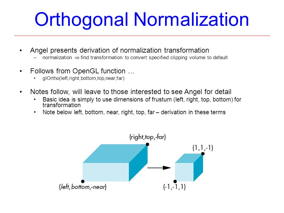 orthogonal projection matrix