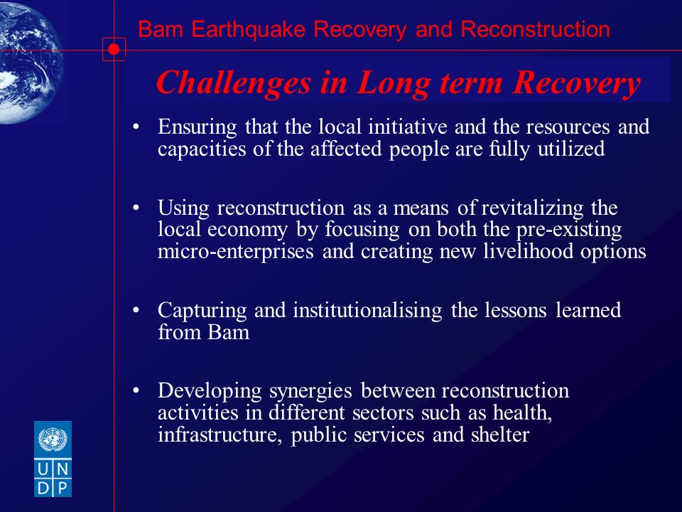 Challenges in Long term Recovery