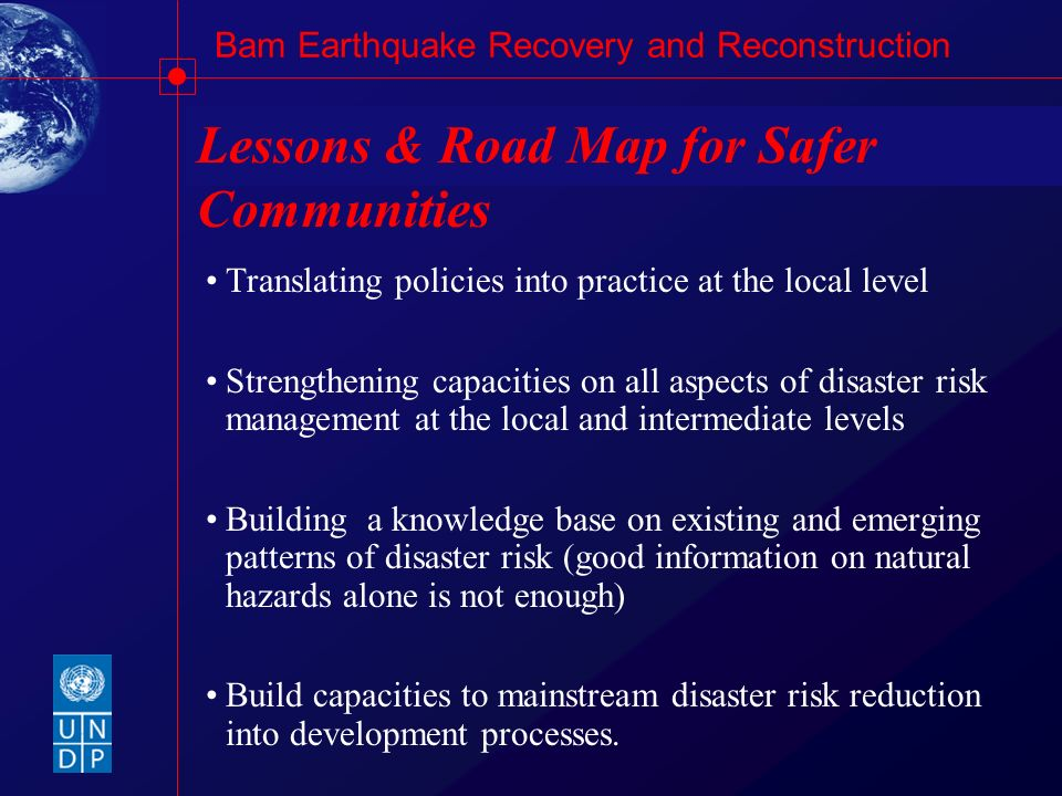 Lessons & Road Map for Safer Communities