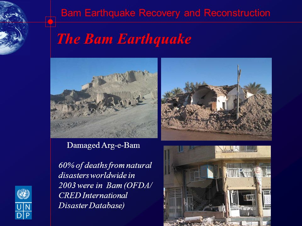 The Bam Earthquake Damaged Arg-e-Bam