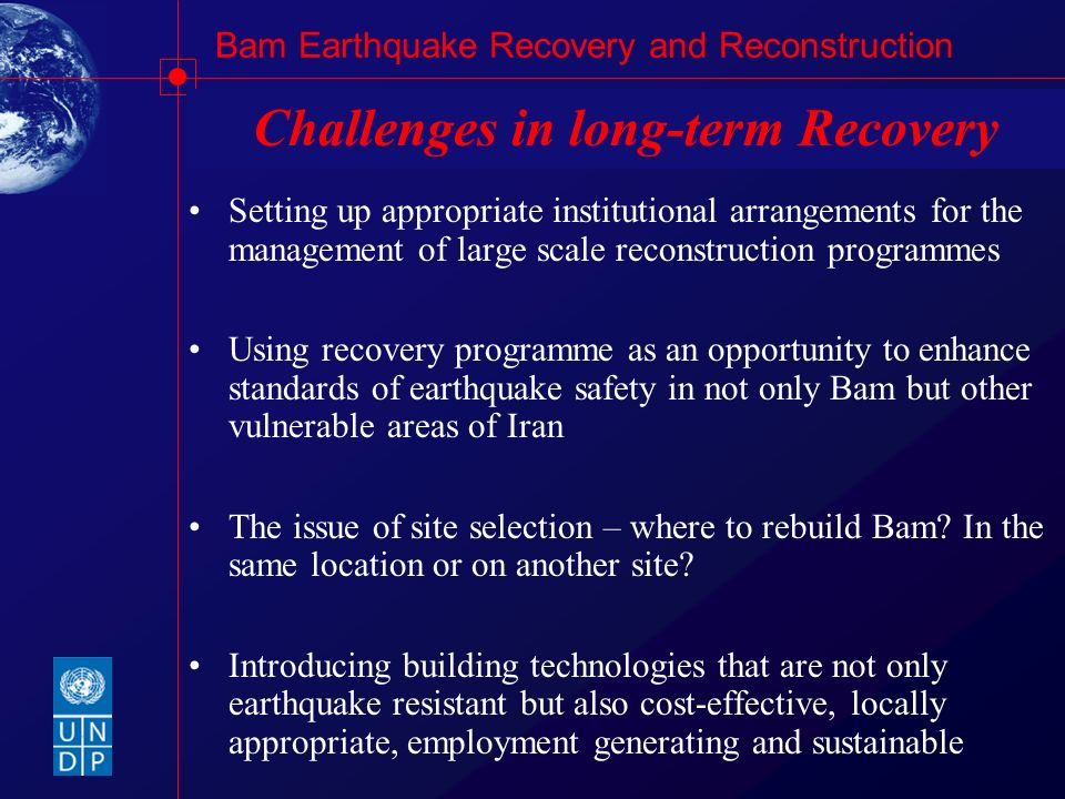 Challenges in long-term Recovery