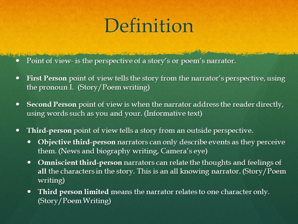 How to Write a Point of View Analysis Essay