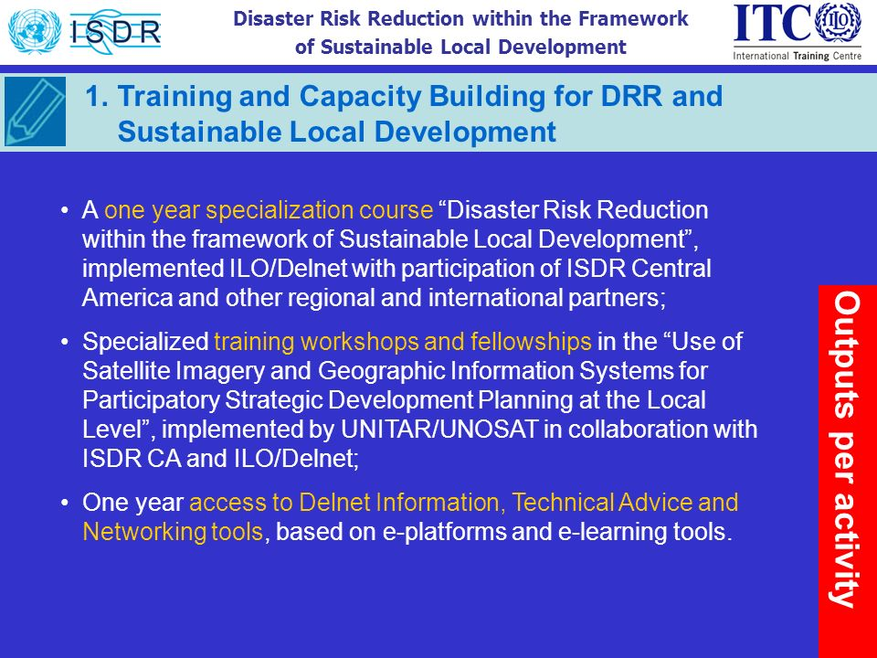 Training and Capacity Building for DRR and Sustainable Local Development
