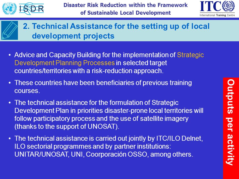 Technical Assistance for the setting up of local development projects