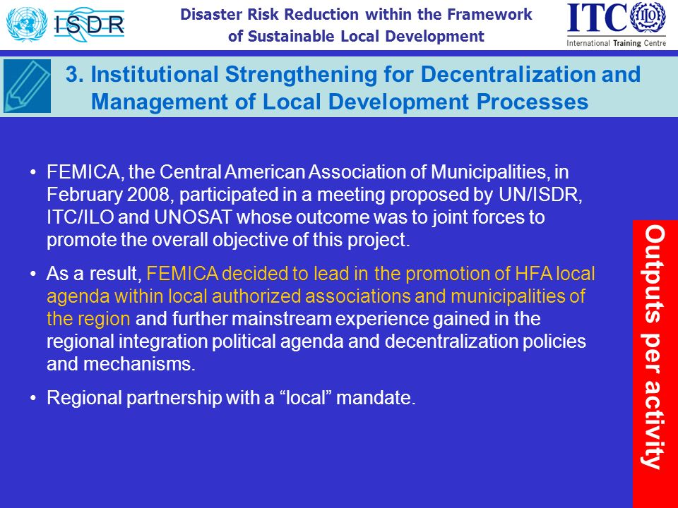 Institutional Strengthening for Decentralization and Management of Local Development Processes