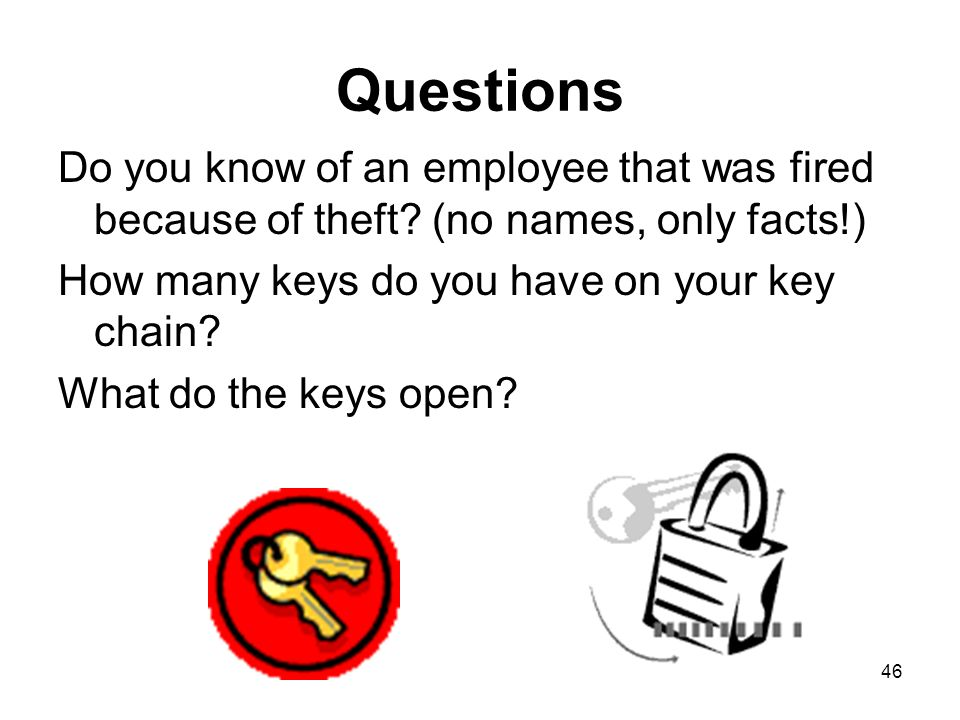 questions on employee theft Internal theft investigation: findings and with recommendations made to improve employee theft internal theft investigation: findings and recommendations.