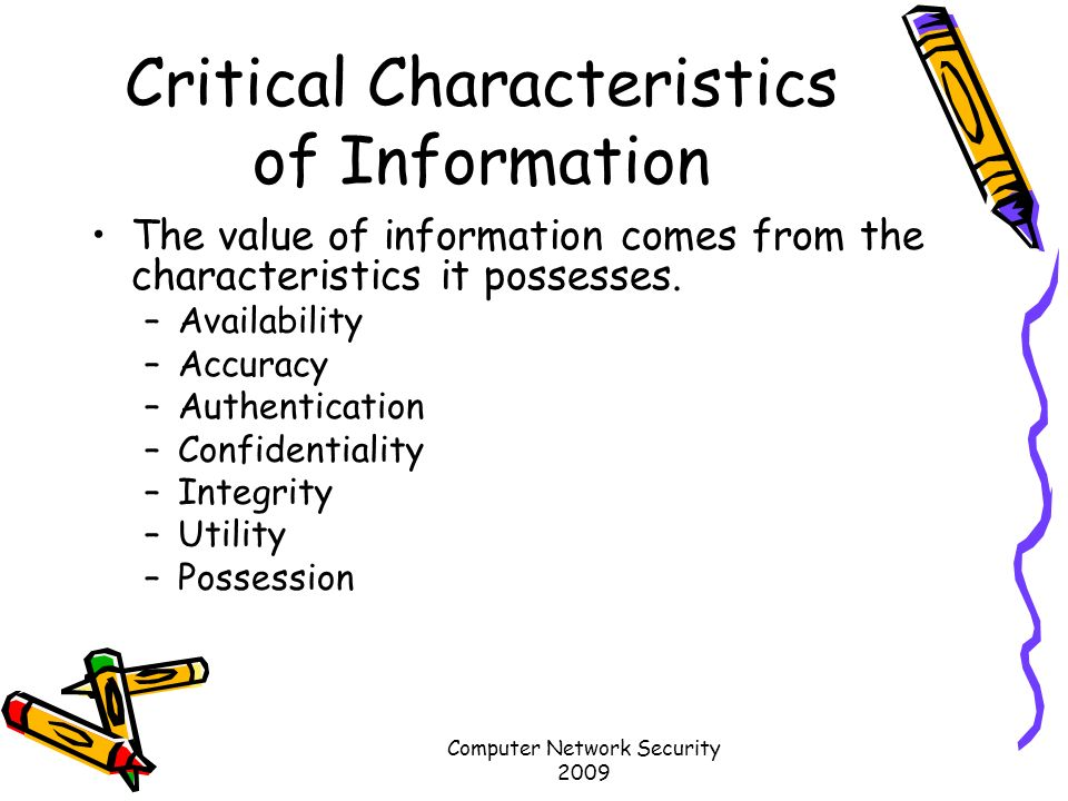 describe the critical characteristics of information 7 describe the critical characteristics of information a availability this from cf 330-a at international academy of design & technology.