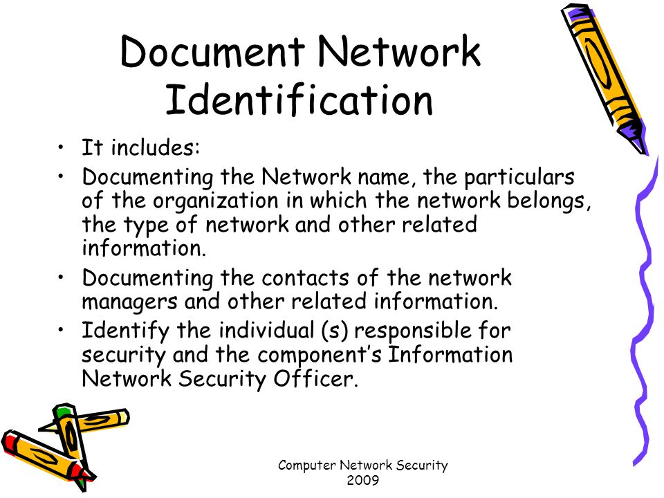 document network identification network security officer