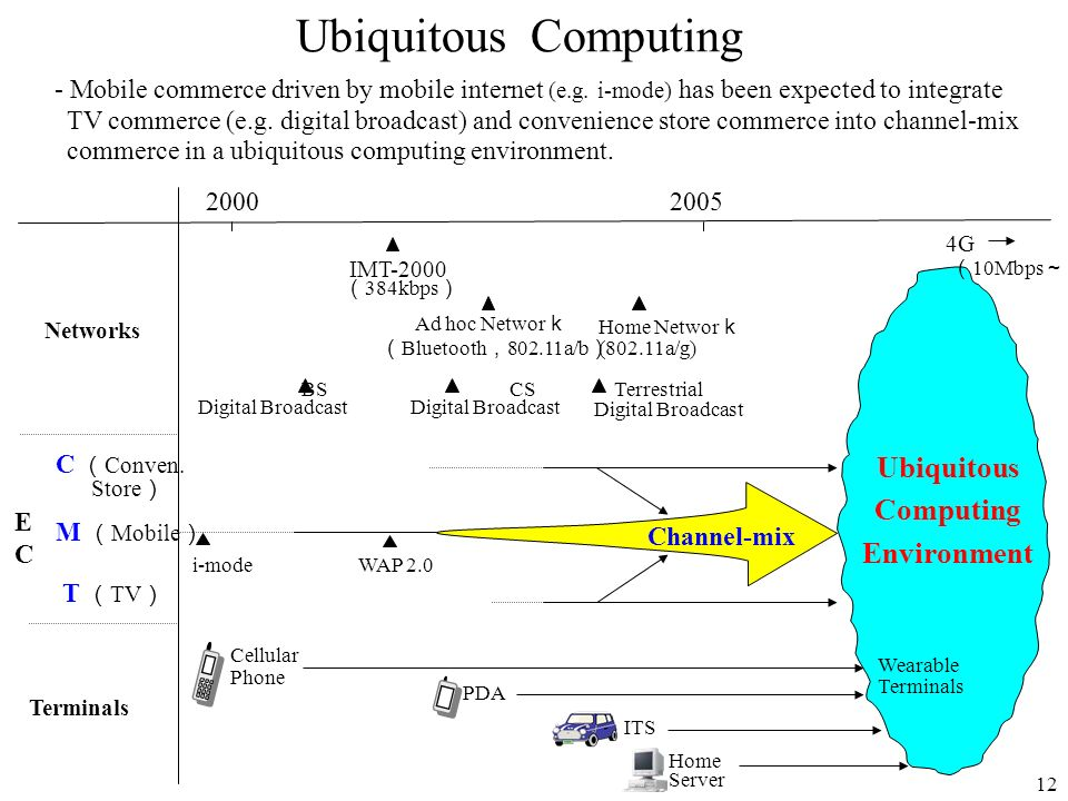 Ubiquitous Computing - Mobile commerce driven by mobile internet (e.g. i-mode) has been expected to integrate.
