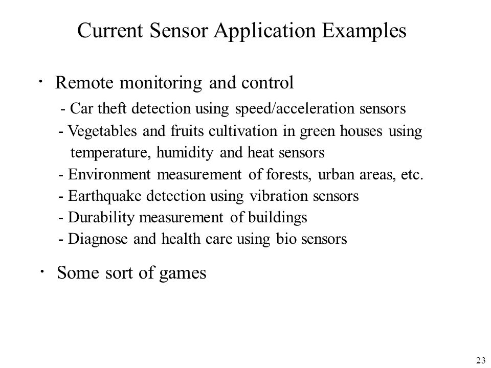 Current Sensor Application Examples
