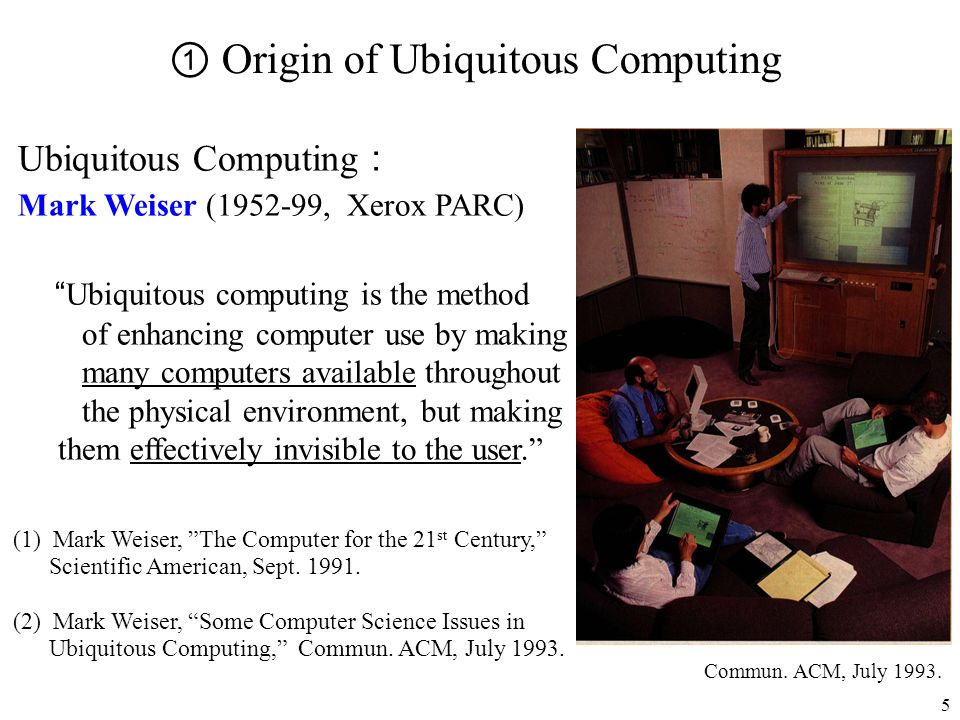 ① Origin of Ubiquitous Computing
