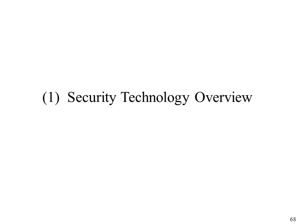 (1) Security Technology Overview