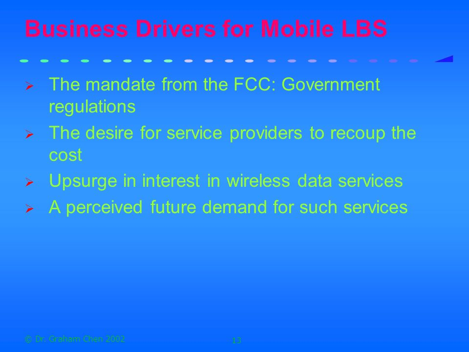 Business Drivers for Mobile LBS