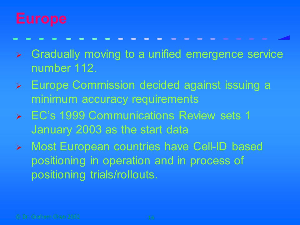 Europe Gradually moving to a unified emergence service number 112.