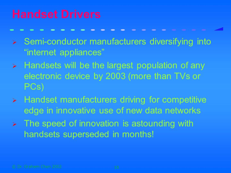 Handset Drivers Semi-conductor manufacturers diversifying into internet appliances
