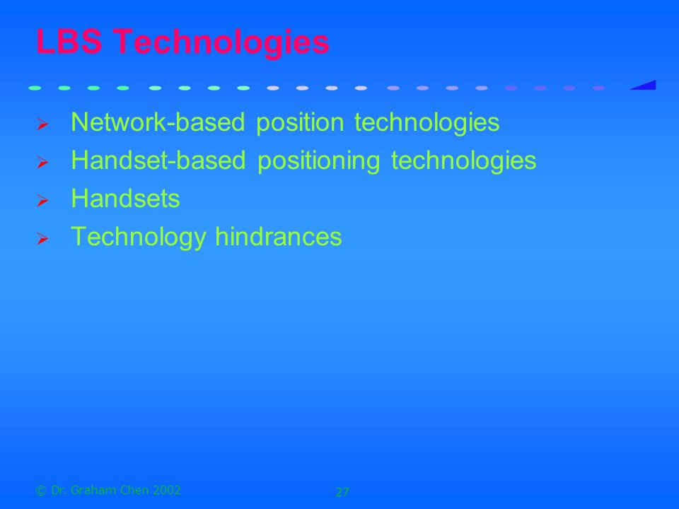 LBS Technologies Network-based position technologies