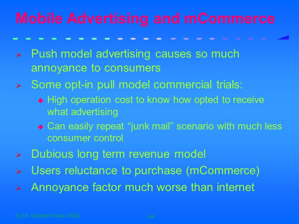 Mobile Advertising and mCommerce