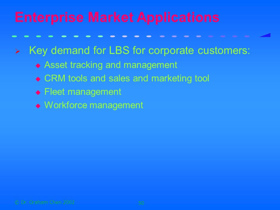 Enterprise Market Applications
